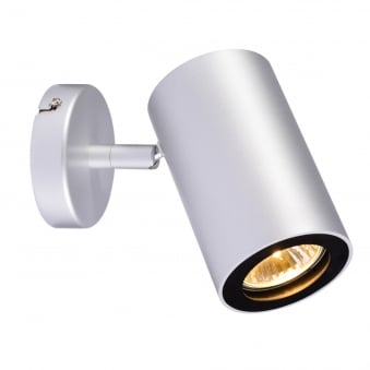 Enola B Single Wall and Ceiling Spotlight in Silver