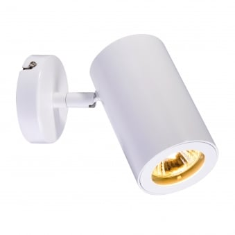 Enola B Single Wall and Ceiling Spotlight in White
