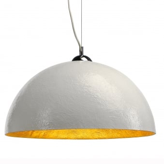Forchini 1 Pendulum Light in White and Gold