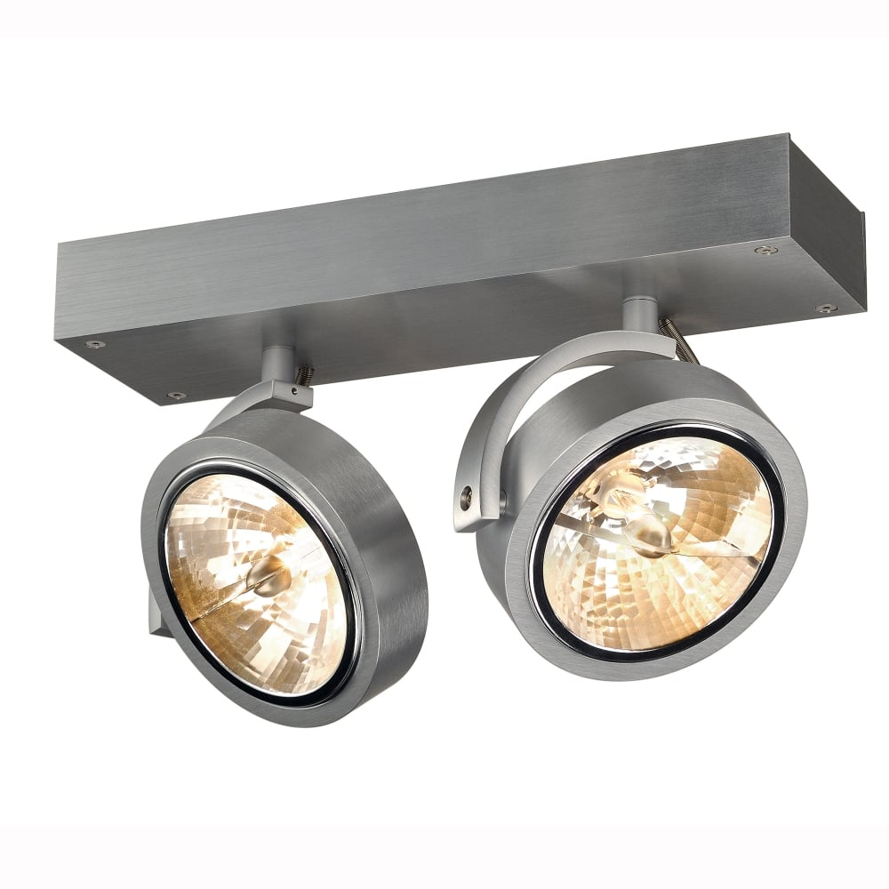 slv kalu 2 brushed aluminium double spotlight. Black Bedroom Furniture Sets. Home Design Ideas
