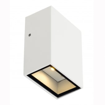 Quad 1 LED Down Wall Light in White